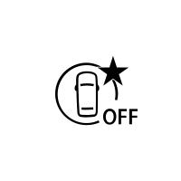 (Odvisno od vozila) Indikator napake ali nerazpoložljivosti aktivnega zaviranja v sili