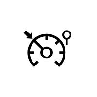 Kontrolni lučki omejevalnika in regulatorja hitrosti.