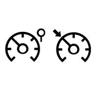 Kontrolni lučki omejevalnika in regulatorja hitrosti